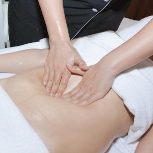 Massage to excrete fat.
