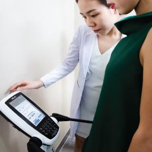 Measure and weigh to determine the situation of fat.