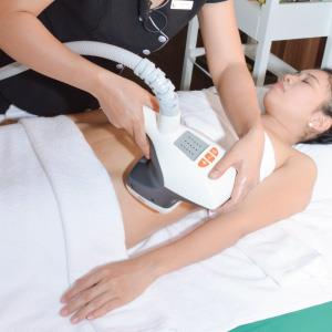 Use Velas Shape slimming therapy to liquefy fat tissue.