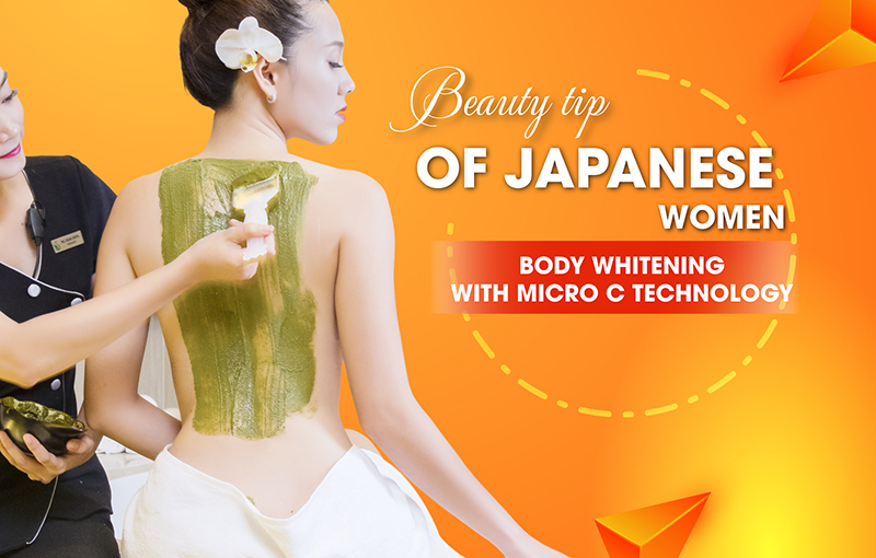 BODY WHITENING WITH MICRO C TECHNOLOGY FROM JAPAN