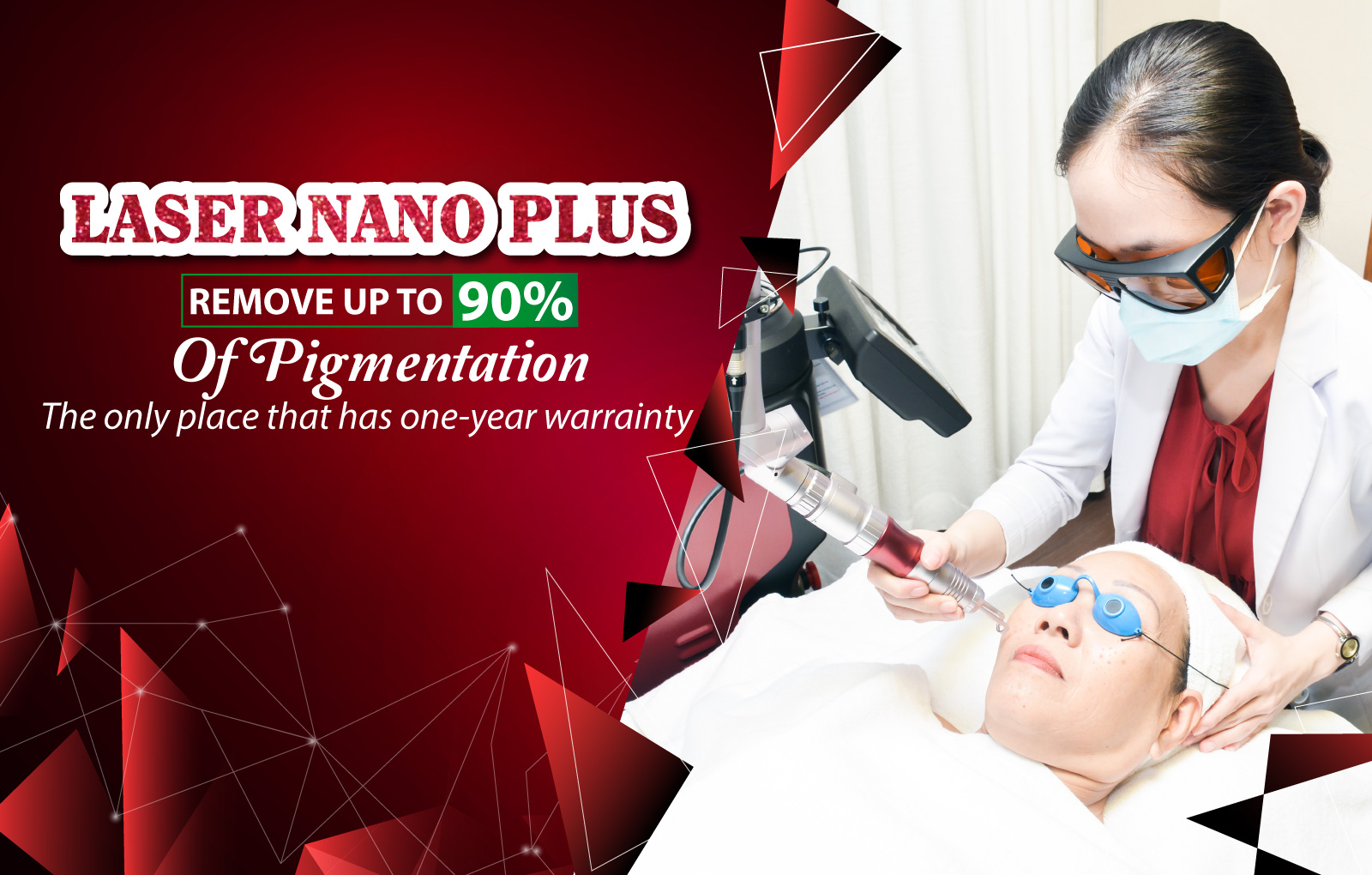MELASMA TREATMENT - SKIN REJUVENATION - TATTOO REMOVAL BY LASER NANO PLUS TECHNOLOGY